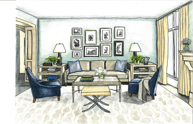 Sitting Room Drawing | emily dall